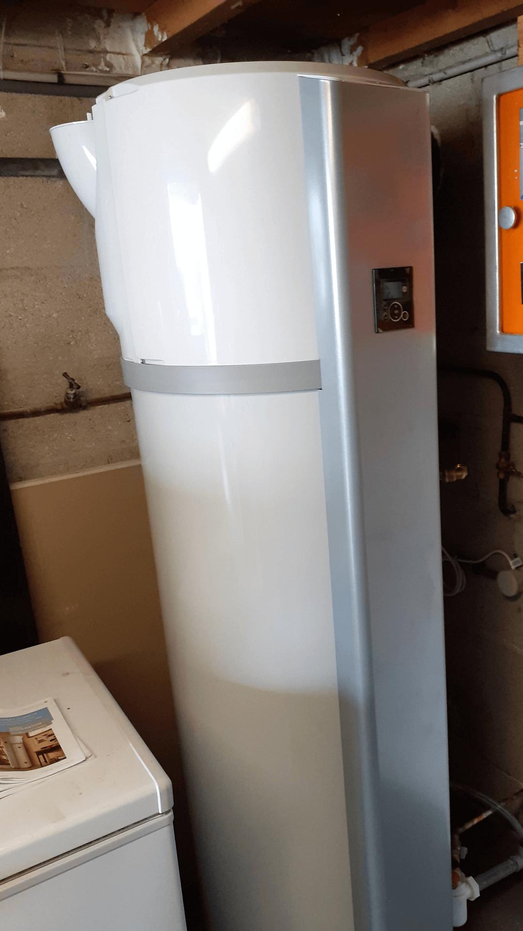 Chauffe-eau thermodynamique sur air extérieur gainé Atlantic (250L).