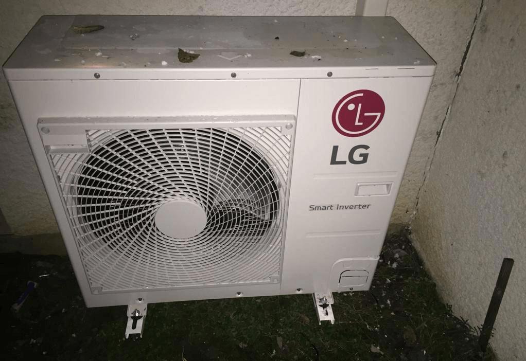 Unité extérieure de la Pompe à chaleur Air-Air Gainable LG.